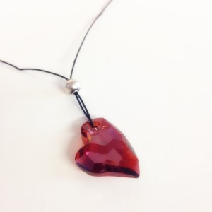 red crystal heart necklace
