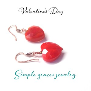 bright red heart earrings tampa